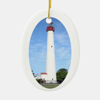 Cape May Lighthouse Ceramic Ornament