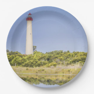 Cape May Lighthouse Paper Plates 9 Inch Paper Plate