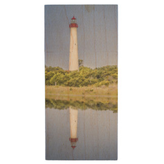 Cape May Lighthouse USB Flash Drive Wood USB 3.0 Flash Drive