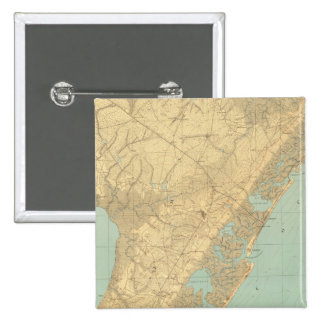 Cape May, New Jersey 2 Inch Square Button