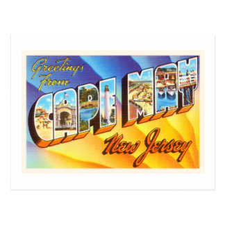 Cape May New Jersey NJ Vintage Travel Postcard- Postcard