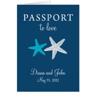 Cape May New Jersey Passport Wedding Invitation