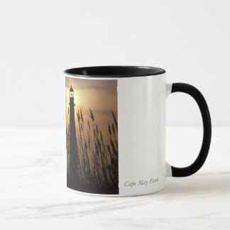 Cape May NJ Lighthouse at Sunset Mug