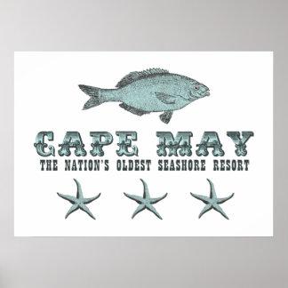 Cape May NJ  Nation's Oldest Seashore Resort Beach Poster