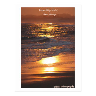 Cape May Point New Jersey Sunset Postcard