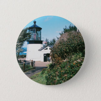 Cape Meares Lighthouse, Oregon 2 Inch Round Button