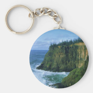 Cape Meares Oregon Coast Keychain