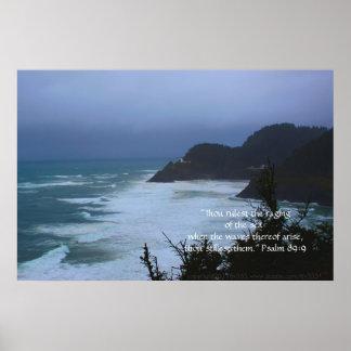 Cape Mist Print w/Scripture Verse