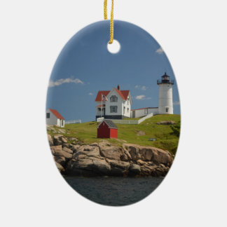 Cape Neddick Lighthouse Ceramic Oval Ornament