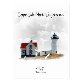 Cape Neddick Lighthouse- Maine Postcard