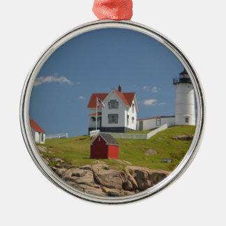 Cape Neddick Lighthouse Metal Ornament