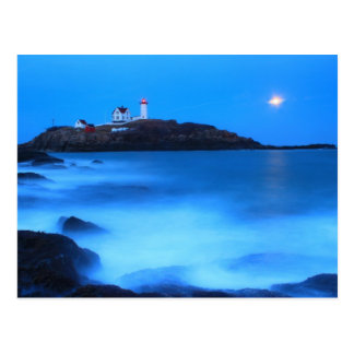 Cape Neddick Nubble Lighthouse Full Moon Tide Postcard