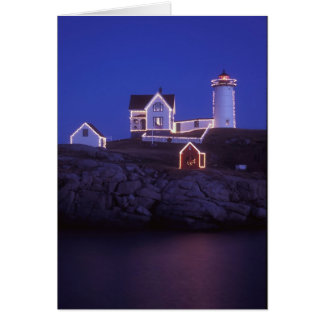 Cape Neddick Nubble Lighthouse Maine Card