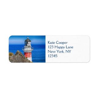 Cape Palliser New Zealand Lighthouse Custom Return Address Labels