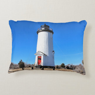 Cape Poge Lighthouse, Massachusetts Accent Pillow