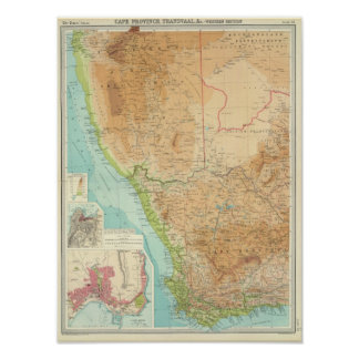 Cape Province, Transvaal, western section Poster