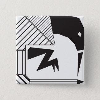 Cape Sugar Bird (Tribal Designs) 2 Inch Square Button