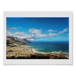 Cape Town 12 Apostles Ocean View Panorama Poster