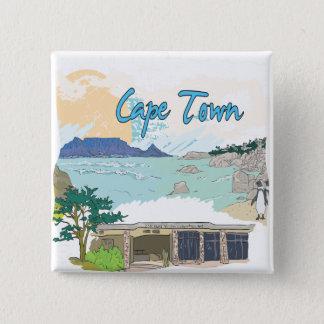 Cape Town 2 Inch Square Button