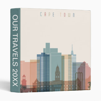 Cape Town, Africa | City Skyline 3 Ring Binder