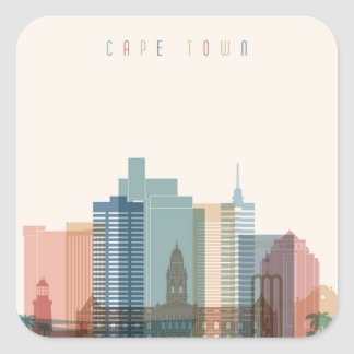 Cape Town, Africa | City Skyline Square Sticker