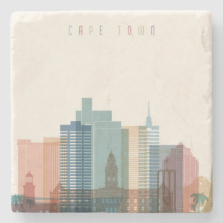Cape Town, Africa | City Skyline Stone Coaster