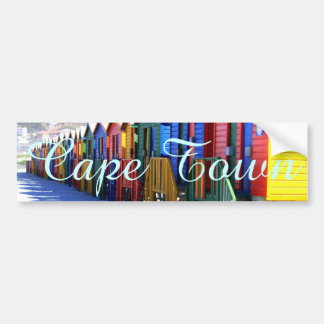 Cape Town Beach Huts Bumper Sticker