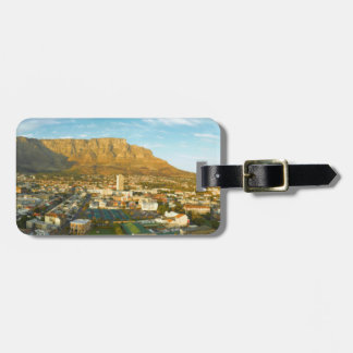 Cape Town Cityscape With Table Mountain Bag Tag