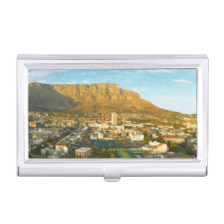 Cape Town Cityscape With Table Mountain Case For Business Cards
