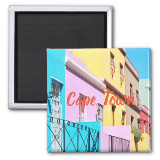 Cape Town Colorful Houses Street View Magnet