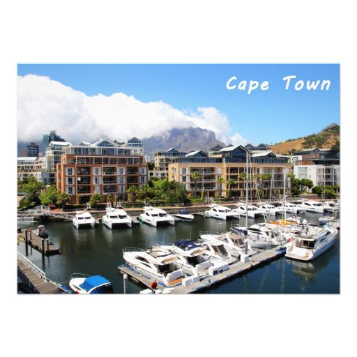 Cape Town Harbour and Table Mountain Custom Announcements