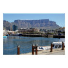 Cape Town Harbour and Table Mountain Poster