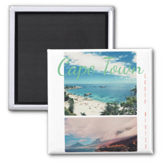Cape Town Lion's Head Beach Collage Magnet
