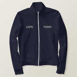 Cape Town South Africa Embroidered Zip Top