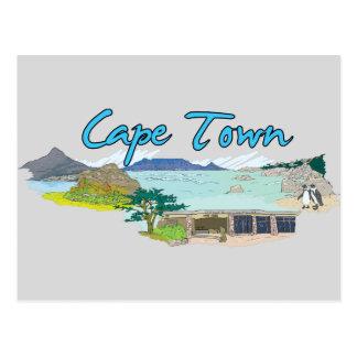 Cape Town, South Africa Famous City Postcard
