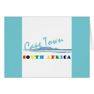 Cape Town South Africa Greeting Card