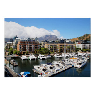 Cape Town, South Africa Harbour Poster