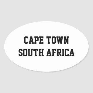 Cape Town South Africa oval stickers