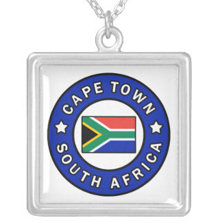 Cape Town South Africa Silver Plated Necklace