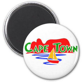 Cape Town South Africa Table Mountain Round Magnet