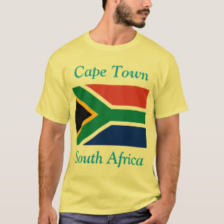 Cape Town, South Africa with South African Flag T-Shirt