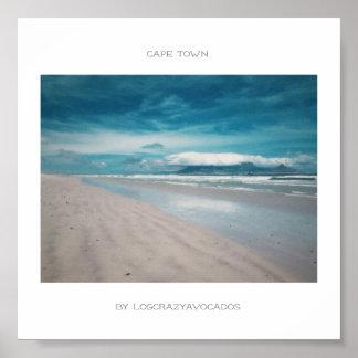 Cape Town Table Mountain Beach Ocean Poster