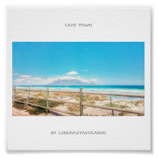 Cape Town Table Mountain Beach Ocean View Poster
