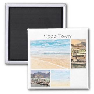 Cape Town Table Mountain Collage Pastel Magnet