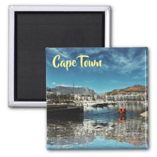 Cape Town Table Mountain Harbor View Magnet