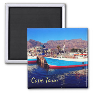 Cape Town Table Mountain Marina Collage Magnet