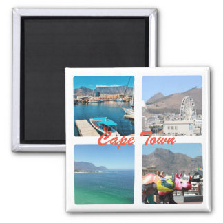 Cape Town Table Mountain Ocean Collage Magnet