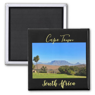 Cape Town Table Mountain View Grass Magnet