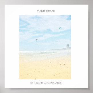 Cape Town Think Beach Ocean Poster