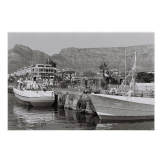 Cape Town Waterfront Harbor Kodak Film Poster